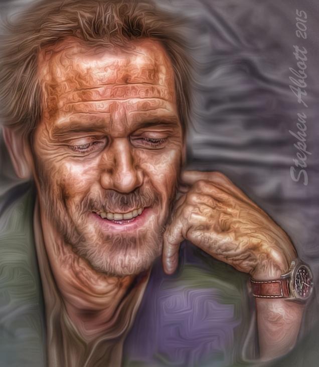 Hugh Laurie par Henstepbatbot